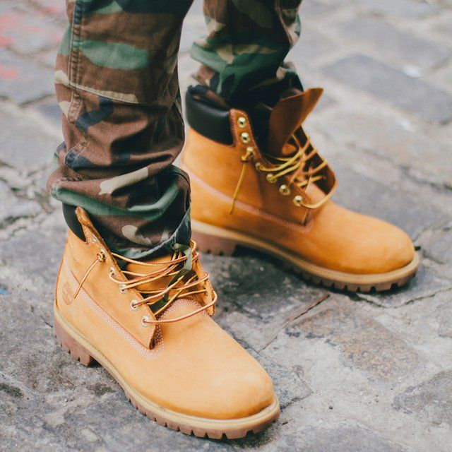 Wheat Timberland boots are waterproof and go with any look.